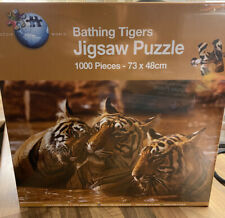 Puzzle World - Bathing Tigers Jigsaw Puzzle - 1000 pieces - New & Sealed