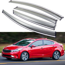 1Set Window Vent Visor Deflector Shade Sun/Rain for 2014-2018 Kia Forte Sedan