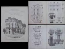 MARSEILLE, 486 RUE PARADIS - 1910 - GRAVURES ARCHITECTURE, CHARLES CRAVIO