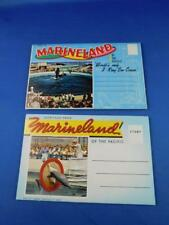 MARINELAND OF THE PACIFIC 3 RING SEA CIRCUS POSTCARD FOLD OUT LOT OF 2