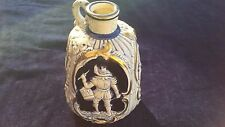 Vintage Music Box Cobalt Blue White & Gold Porcelain Jug Liquor Decanter
