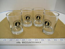 Set of 4 New Hampshire Wicked Wine & Brew Fest Beer Flight Tasting Glasses - EUC