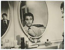 DELON ALAIN RICH CLAUDE PHOTOGRAPHIE ARGENTIQUE PRESSE 1974 VINTAGE PHOTOGRAPH
