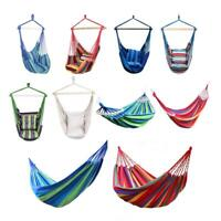 Rope Hammock Hanging Chair Swing Seat Indoor Outdoor Garden +2 Pillows/2 Ropes