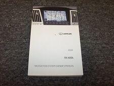 2008 Lexus RX400h RX 400h Navigation System Owner Operator Guide Manual 3.3L V6