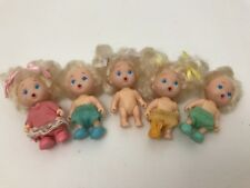 Vintage Tyco Quints Drink and Wet Blonde Blue Eyes 5 Dolls