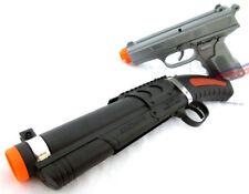 2x Toy Guns! Military Detective Silver 9MM Pistol & Toy Sawed-off Shotgun