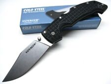 COLD STEEL Black Handle Large VOYAGER Straight CLIP POINT Folding Knife! 29TLCC