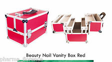 Valigetta Beauty Nail Box Red Professional Product Ricostruzione Unghie Manicure