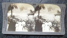 old Keystone photo stereoview card Volcanic eruption Martinique