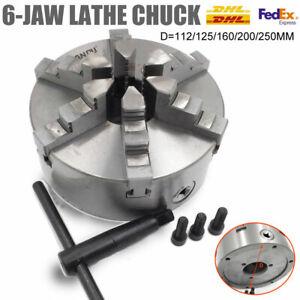 6-jaw Lathe Chuck Self-Centering 100/125/160/200mm CNC Drilling Metal Lathe
