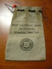 FIRST NATIONAL BANK OF WATERLOO NEW YORK BANK BAG