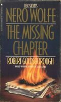 The Missing Chapter: A Nero Wolfe Mystery by Goldsborough, Robert Book The Fast