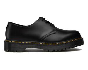 Sale Dr Martens 1461 Bex 3 Eyelets Unisex Lace Up Leather Shoes Black RRP£139