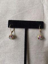 Multi-Gemstone Earrings 10K Yellow Gold