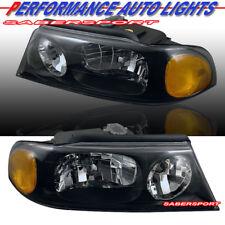Set of Pair OE Style Black Housing Headlights for 1998-2002 Lincoln Navigator