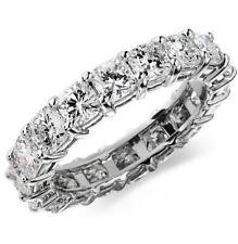 3.0 Ct Cushion Cut Diamond Eternity Ring eternity wedding band 14K White Gold