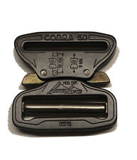 "AustriAlpin 50mm / 2"" Matt Black Cobra Buckle + Black XL Clips FC50MVF-XB"