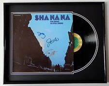 SHA NA NA Group Signed THE NIGHT IS STILL YOUNG Record Album FRAMED DISPLAY