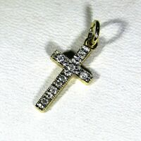 9ct 9k Gold Diamond Cross Pendant