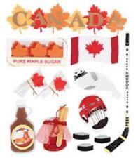 Canada Maple Leaf Flag Ice Hockey Snow Maple Sugar Seal Travel Jolee's stickers