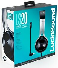 Lucid Sound LS20 Black Wired Gaming Headset w/ Mic for PS4 Xbox One PC & Mobile