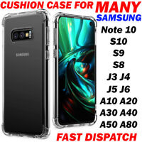 Clear Ultra Thin Slim Fit Soft TPU Protective Cover Shock-Absorption For Samsung