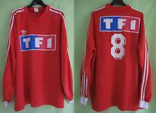 Maillot porté Adidas Coupe de France Rouge #8 TF1 Vintage Nimes Olympique - XL