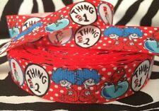 "1 Yard 7/8"" Cat in the Hat Grosgrain Ribbon - # 2"