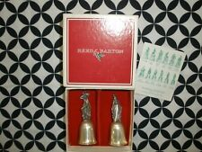 (2) Vtg 1981 Reed&Barton 12 Days Christmas Silver Bells 9 Ladies/10 Lords ~T1465