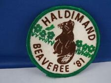 BOY SCOUTS CANADA BEAVER 1981 HOLDIMAND BEAVEREE PATCH VINTAGE COLLECTOR BADGE
