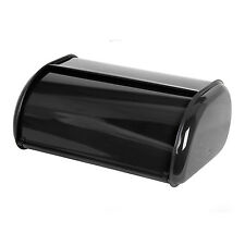 Home Basics Stainless Steel Cake Bread Box Kitchen Food Storage Container Black
