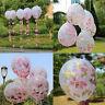 5pcs 12'' Gold Foil Confetti Latex Balloons Helium Wedding Birthday Party Decor