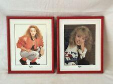 More details for kylie minogue 1980's framed vintage pictures x2
