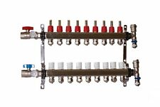 9 Loop 1 Stainless Steel Manifold For Radiant Heating For 12 Pex Tubing