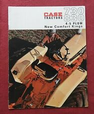 "GENUINE 1964 CASE ""730 & 830 COMFORT KING TRACTOR"" CATALOG BROCHURE VERY NICE"
