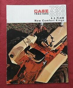"GENUINE 1964 CASE ""730 & 830 COMFORT KING TRACTOR"" CATALOG BROCHURE VERY NICE"