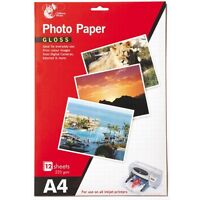 8 Sheets A4 Gloss Photo Paper Print Colour Images From Digital Cameras 235 gsm