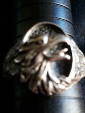 Sterling Silver Eagle Mens Ring size 12.5