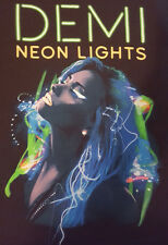 Demi Lovato Small T Shirt Neon Lights Tour 2014 Gently Used