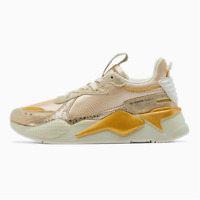 Puma Women's RS-X Winter Glimmer Shoes NEW AUTHENTIC White/Team Gold 372761 01