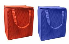 Insulated Grocery Shopping Bag with Waterproof Leak proof Lining / Zipper (2 PC)