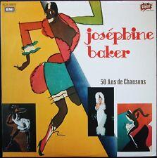 JOSEPHINE BAKER 50 ANS DE CHANSONS  DOUBLE ALBUM 33T LP SERIE PUNCH NEUF MINT