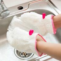 1 pz cucina pulizia piatto lavaggio scrubber guanto in fibra di bambù imper BHQ
