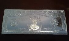 12oz .999 Silver Bullion Bar Coin: $10000 FEDERAL RESERVE NOTE.