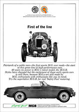 MG MGB 1964 RETRO POSTER A3 PRINT FROM CLASSIC 60'S ADVERT