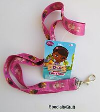 "NEW DISNEY DOC MCSTUFFINS 18"" LANYARD KEY RING PINK 3+ (2014) (RB)"