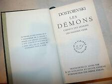 Letteratura Russia - Dostoievski; Les Demons Demoni 1955 La Pleiade ex libris
