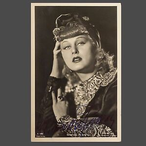 orig. Autogramm MARIKA RÖCKK als KORA TERRY, signierte Autogrammkarte Foto 1957