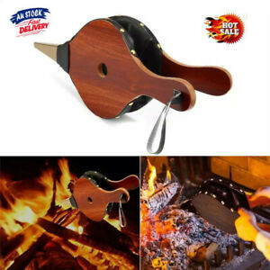 Fireplace Wood Bellows Wood Barbecue BBQ Air Blower Campfire Brown BBQ Tools